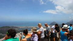 Christ the Redeemer, postcard of Rio de Janeiro. - stock footage