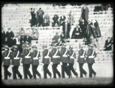 1930s Military at Football Game Stock Footage