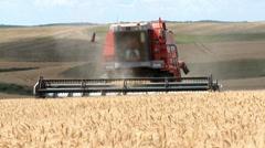 Wheat Harvesting-005 Stock Footage
