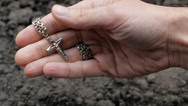 Hand Holding Cross HD Stock Footage