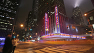 Stock Video Footage of New York City, NY - November 24, 2008: Radio City Music Hall, timelaspse