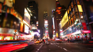 Stock Video Footage of Times Square, New York City (logos and brands blurred)