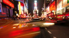 Times Square, New York City (logos and brands blurred) Stock Footage