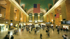 Grand Central Station, New York City - timelapse - stock footage