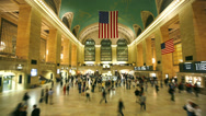 Stock Video Footage of Grand Central Station, New York City - timelapse
