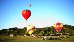 Timelapse shot of hot air balloons Stock Footage