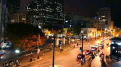 Busy Seattle street time lapse Stock Footage