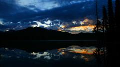 Timelapse shot of Sunrise over Lake - stock footage