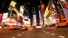 Times Square, New York City (logos and brands blurred) - stock footage