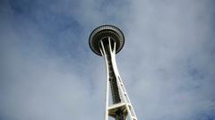Seattle, WA - July 11, 2007: Time lapse shot of Space Needle - stock footage