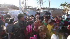Typhoon Haiyan Evacuation - stock footage