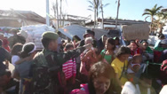 Stock Video Footage of Typhoon Haiyan Evacuation