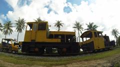 Railway timelapse Stock Footage