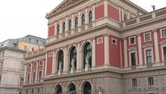 Viennese Music Society Building. Stock Footage
