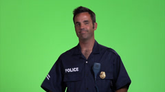 Policeman Stock Footage