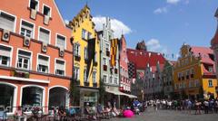 Germany, bavaria, landshut, altstadt, old town Stock Footage