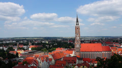 Church st. martin in landshut, bavaria, germany Stock Footage