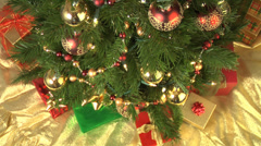 Decorated Christmas Tree Stock Footage