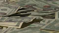 Pile of money close up Stock Footage