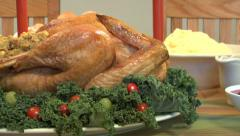 Thanksgivng meal Stock Footage