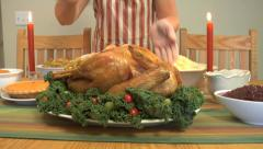 Turkey dinner Stock Footage