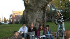 Group of college students - stock footage