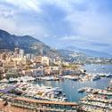 Stock Photo of monaco montecarlo principality aerial harbor view. azure coast. france