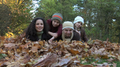 Fall family portriat Stock Footage