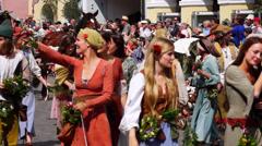 Landshut wedding, landshuter hochzeit, lower bavaria, germany Stock Footage