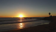Stock Video Footage of Beautiful Sunset at California Lifeguard Station