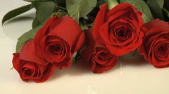 Dozen red roses Stock Footage