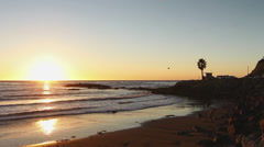 Perfect Sunset Along Pacific Coast Stock Footage