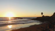 Stock Video Footage of Perfect Sunset Along Pacific Coast