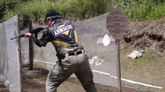 Practical Shooting Competition Stock Footage