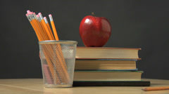 School objects - stock footage
