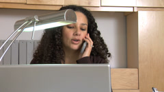 Businesswoman talking on phone - stock footage