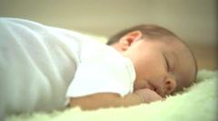 Newborn baby sleeping Stock Footage