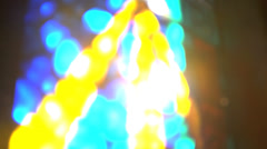 Sun shining through stained glass window Stock Footage