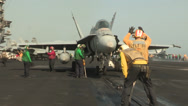 Stock Video Footage of Flight Operations on the USS Harry S. Truman