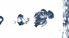 Water bubbles slow motion Stock Footage