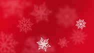 Stock Video Footage of Animated Snowflake Red Background - 25 fps