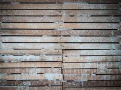 lath and plaster wall - stock photo