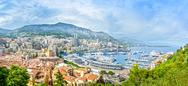 Stock Photo of monaco montecarlo principality aerial view cityscape. azure coast. france