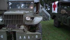 ww2 military truck - stock footage