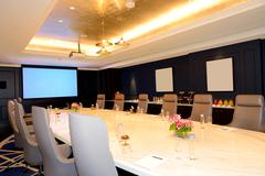 The meeting room interior at luxury hotel, ras al khaimah, uae Stock Photos