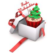 gift cupcake merry christmas - stock illustration