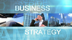 CG video montage of business managers using technology Stock Footage