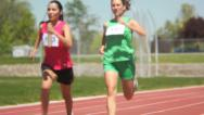 Stock Video Footage of Passing the baton in relay