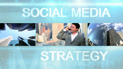 Business video montage of experts using touch screen technology - stock footage