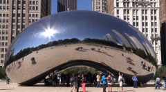 "Chicago Cloud Gate ""The Bean"" 01 - stock footage"